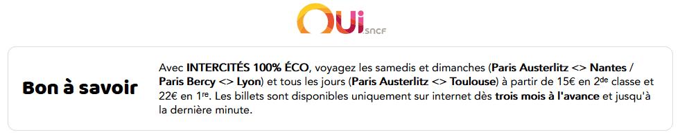 Intercités 100% eco