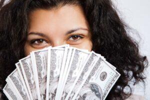 argent billets femme