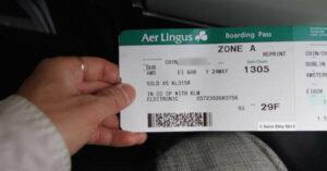 aer lingus carte d'embarquement