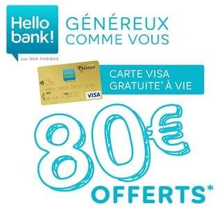 hello bank 80 euros bienvneue