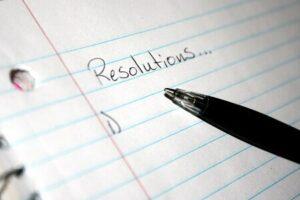 résolutions nouvel an