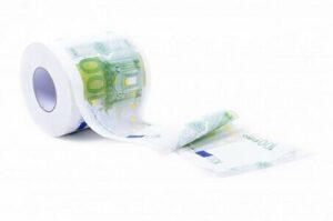 papier toilette argent billets