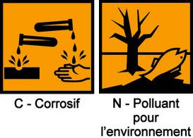 pictogrammes corrosif polluant