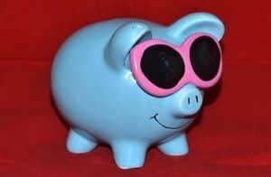 tirelire cochon lunettes