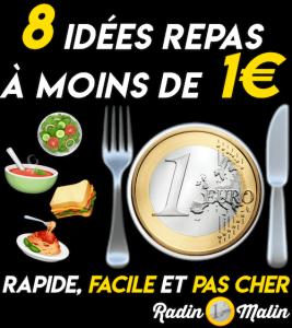 8 idées repas à moins de 1€ rapide facile et pas cher