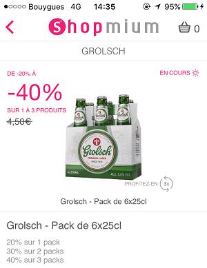 Shopmium bière Grolsch