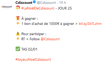 concours twitter cdiscount