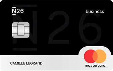 Carte N26 Business visuel