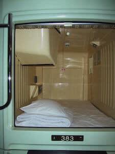 hôtel capsule Japon