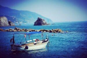 bateau mer montagne