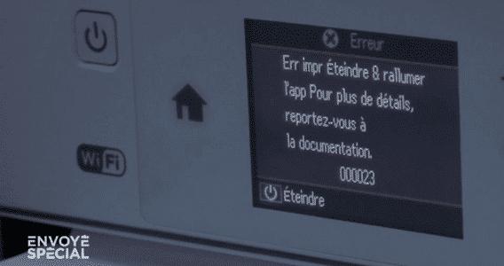 obsolescence imprimante envoyé spécial