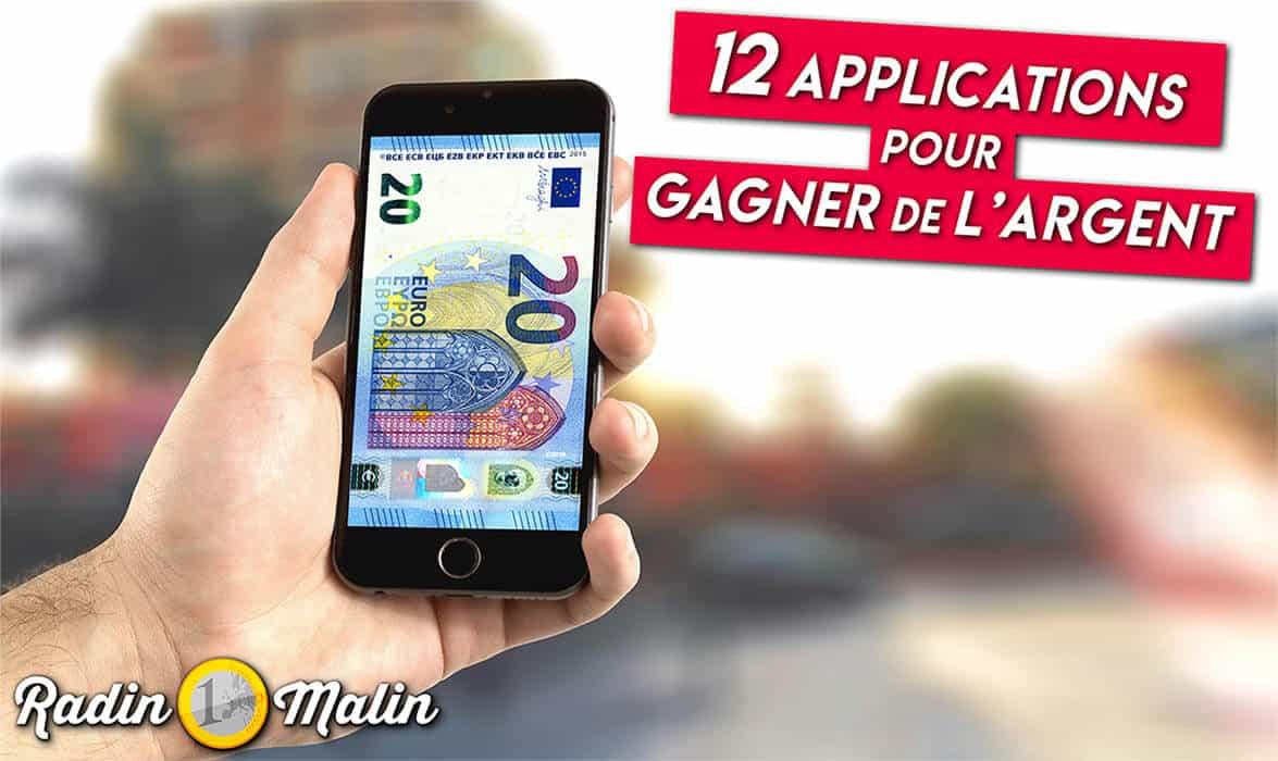 12 applications pour gagner de l'argent