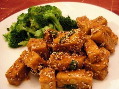 tofu sauté brocoli sésame