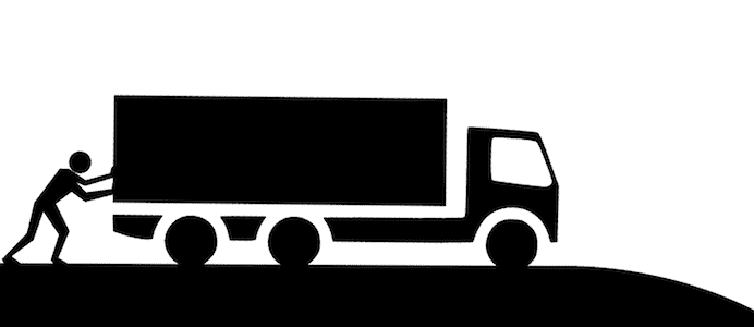 camion descente
