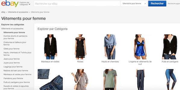 ebay vêtements femme