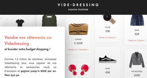 Vide dressing vendre