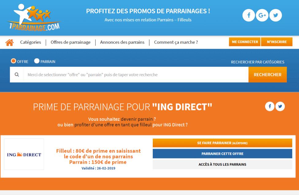 1parrainage.com ing direct