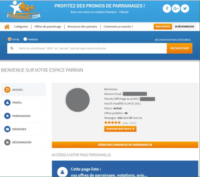 1parrainage.com profil