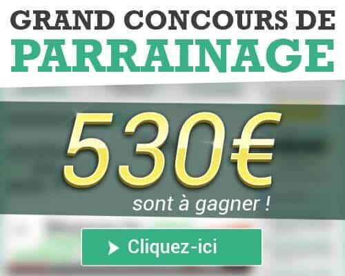 Concours de parrainage Moolineo 530 euros à gagner