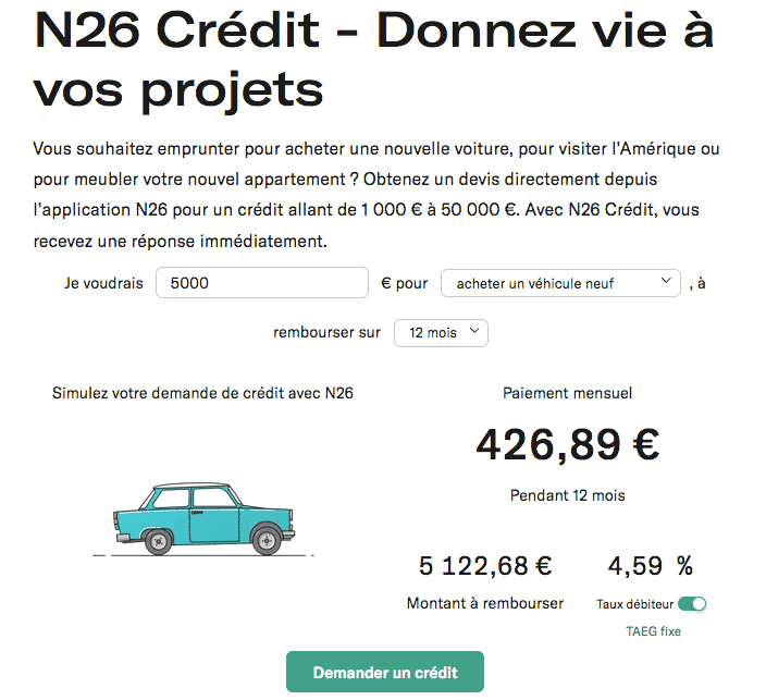 N26 credit