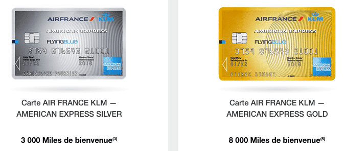 American Express Air France KLM Silver Gold