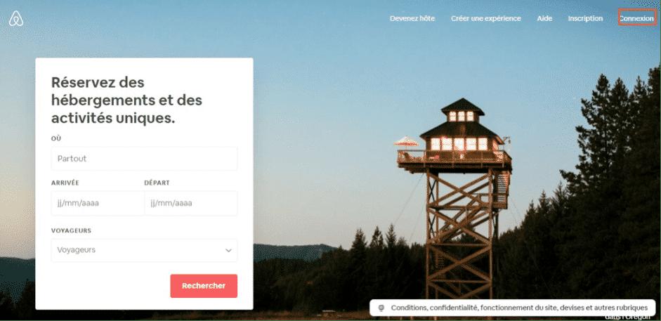 Comment me connecter à mon compte Airbnb