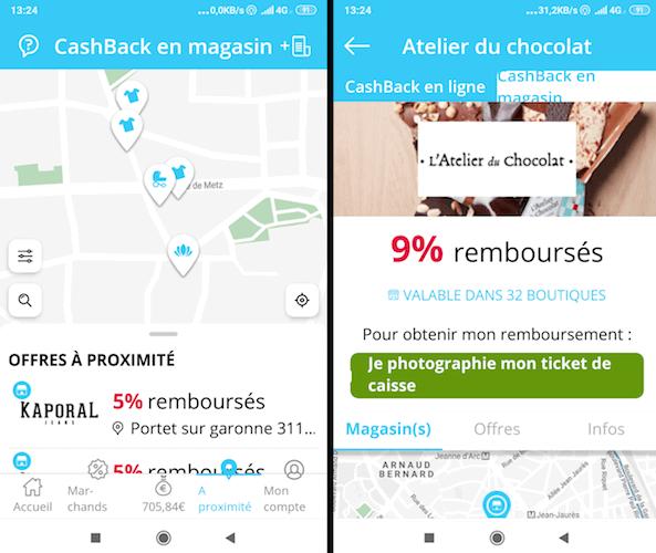 application ebuyclub cashback en magasin photographier ticket de caisse