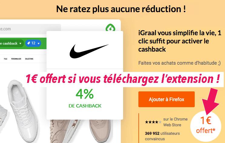 extension iGraal firefox chrome edge safari 1 euro offert