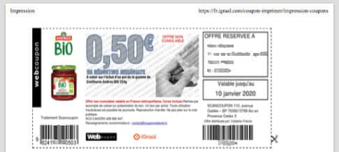 Coupon réduction iGraal Andros