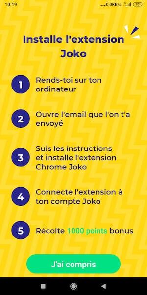 Joko extension Chrome