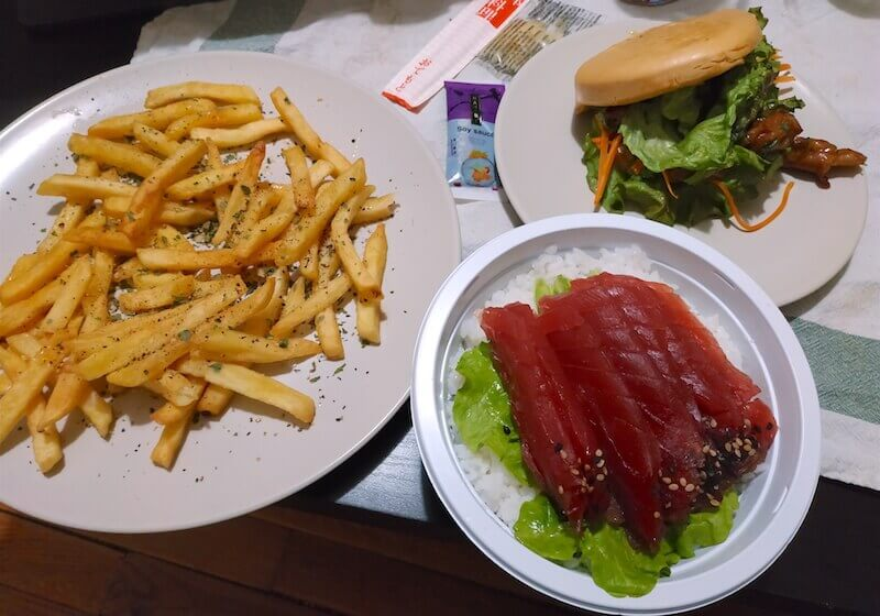 Karma chirashi frites burger bao yakitori