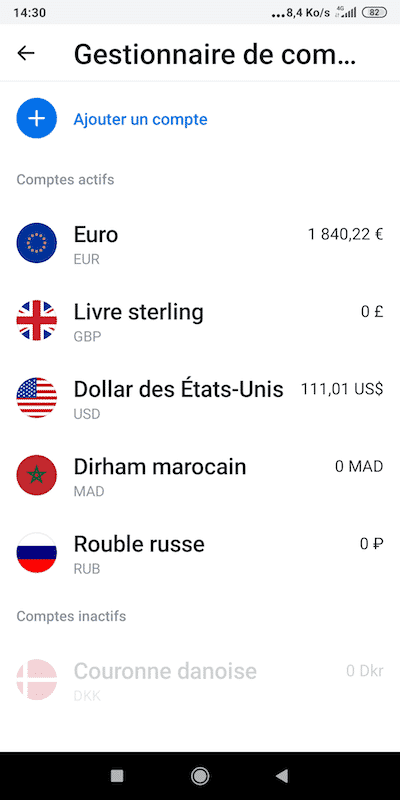 Revolut devises monnaies comptes