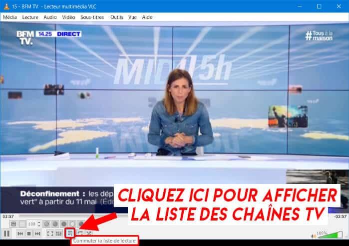 Afficher la liste chaînes TV sur VLC