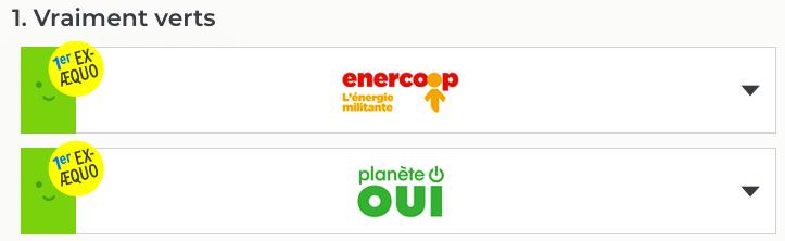 Baromètre Greenpeace fournisseurs énergie vraiment verts