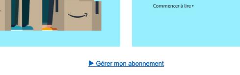 Amazon Gérer mon abonnement
