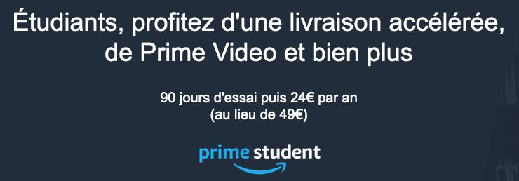 Amazon Prime étudiants