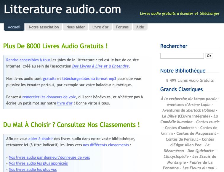 Litterature audio.com