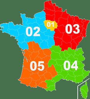 indicatifs téléphoniques français