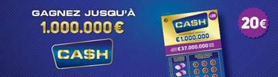 Jeu à gratter Ca$h 20€ Belgique