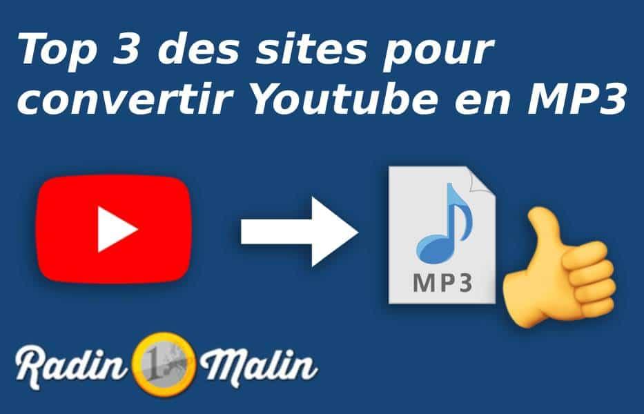 Top 3 des sites pour convertir Youtube en mp3