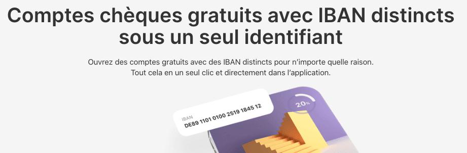 Vivid comptes IBAN supplémentaires