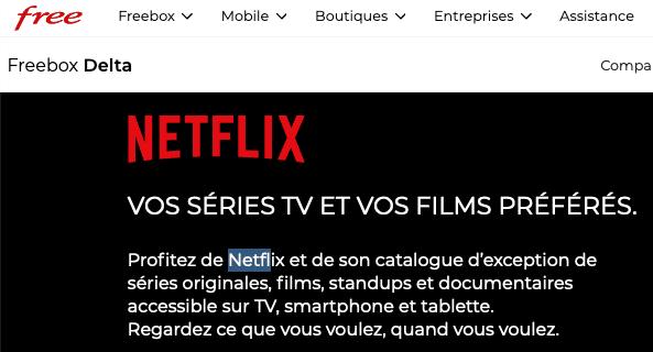 Netflix gratuit Freebox Delta