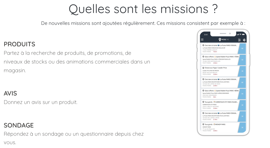 Mobeye missions