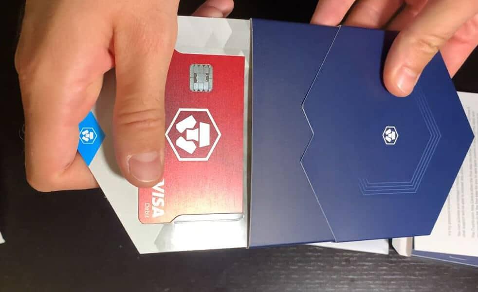 déballage carte Crypto.com